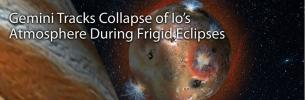 Gemini Tracks Collapse of Io's Atmosphere During Frigid Eclipses