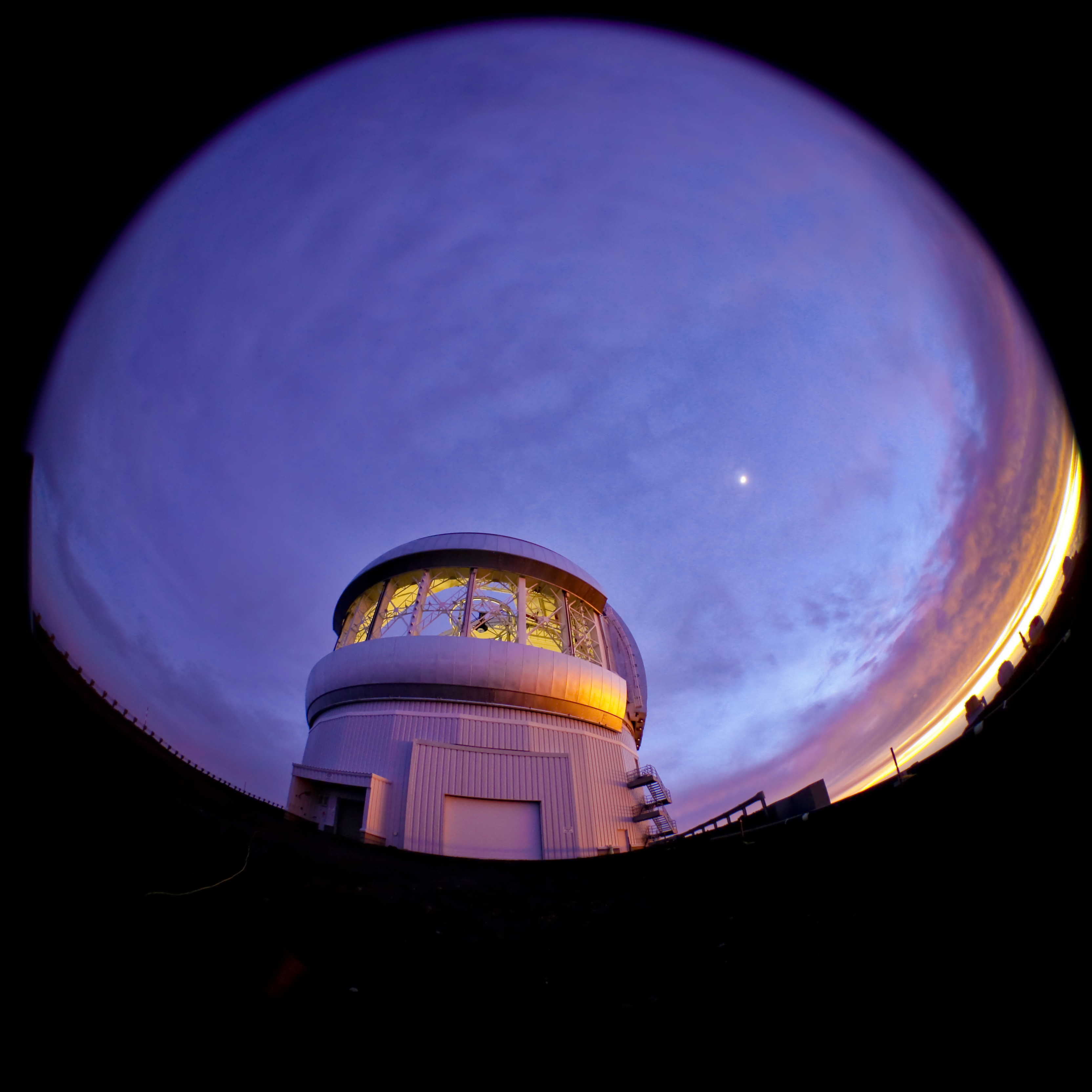 Fish Eye View of Gemini North at Sunset