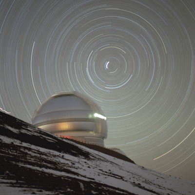 Circumpolar Stars Over Gemini North