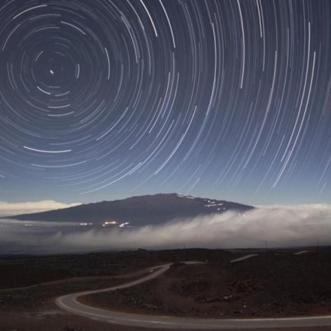 Star Trails Over Mauna Kea