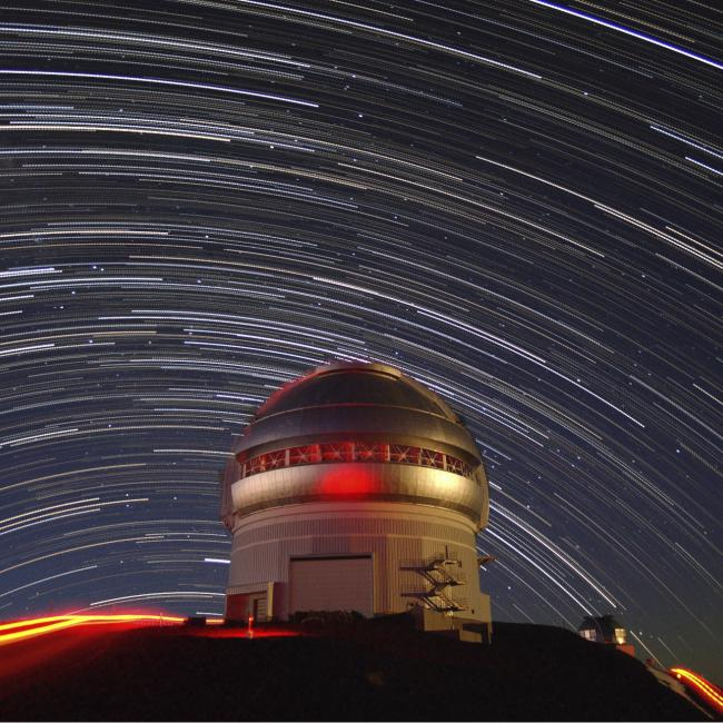 Star Trails Over Gemini North