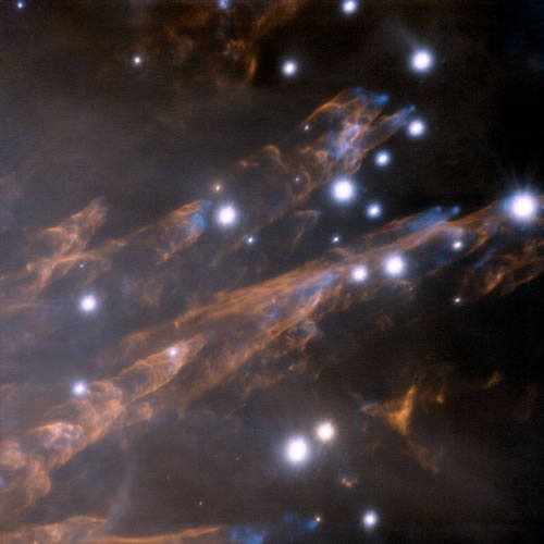 Bullets in the Orion Nebula, courtesy Gemini Observatory