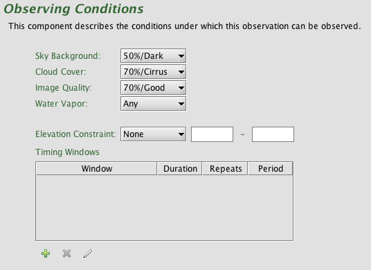 Conditions component