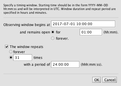 Timing Window Editor