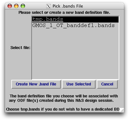 [Band creation / selection dialog]