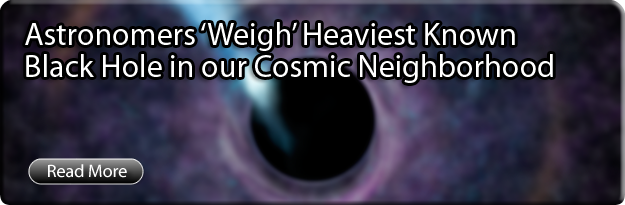 Astronomers 'Weigh' Heaviest Known Black Hole in our Cosmic