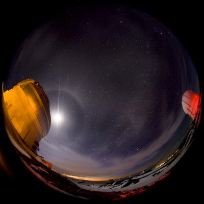 Moon over Gemini North Fish Eye View