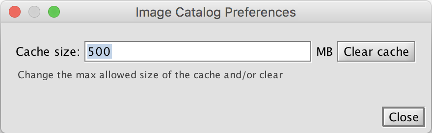 Image cache preference